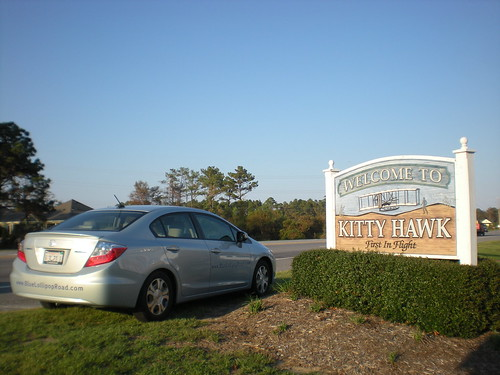 Welcome to Kitty Hawk, NC Blue Lollipop Road and Honda!