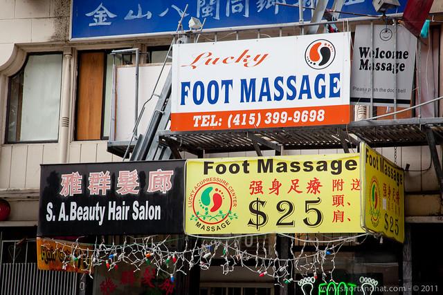 Lucky Foot Massage, Chinatown