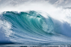 Wave breaking (john white photos) Tags: ocean sea green nature water coast surf break australian wave australia coastal southaustralia eyrepeninsula greenlybeach