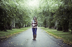 . (joannablu kitchener) Tags: park uk autumn woman cold fall leaves scotland nikon 85mm windy blaircastle d90 dylank joannablu kitchenerphotography