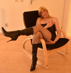 The rocking chair. (sabine57) Tags: drag tv boots cd crossdressing tgirl transgender tranny transvestite crossdresser crossdress transvestism