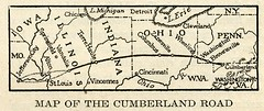 Map of the Cumberland Road (1920) (Eric Fischer) Tags: map