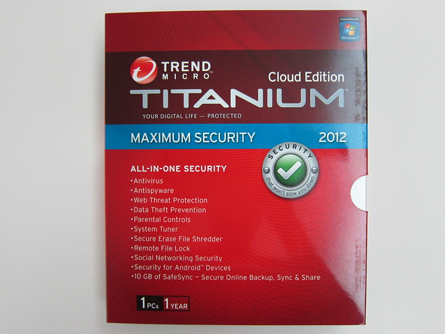 Trend Micro Titanium Cloud Edition Maximum Security 2012