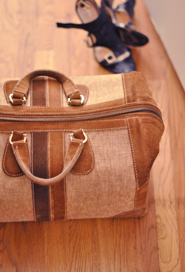 vintage luggage+vintage bag