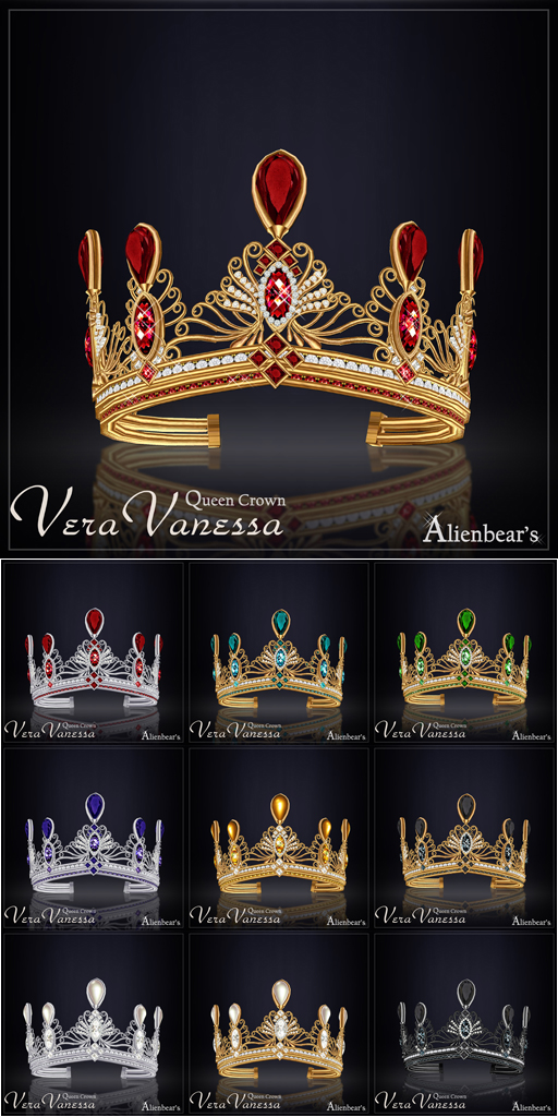 Vera Vanessa Queen Crown all