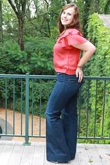 Outfit - Twenty8Twelve jeans, vintage blouse