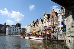 Historical centre (davidvankeulen) Tags: haven water boot europe belgium belgie suburbs innercity ghent gent innenstadt gracht historie vlaanderen binnenstad flemishregion davidvankeulen davidcvankeulen urbandc davidvankeulennl