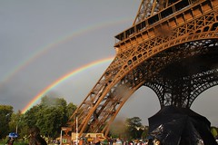 Eiffel Tower Double Rainbow