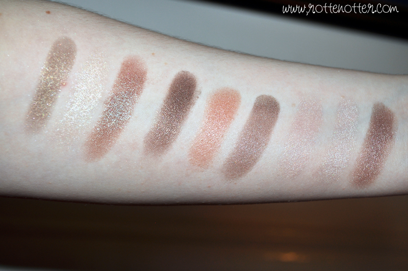MUA professional eyeshadow trio chocolate box pink sorbet innocence swatches