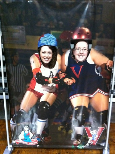 If we were in roller derby...
