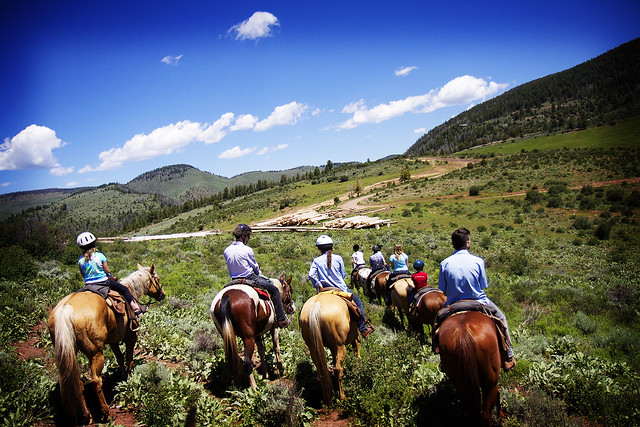 Black Mountain Colorado Dude Ranch horse riding