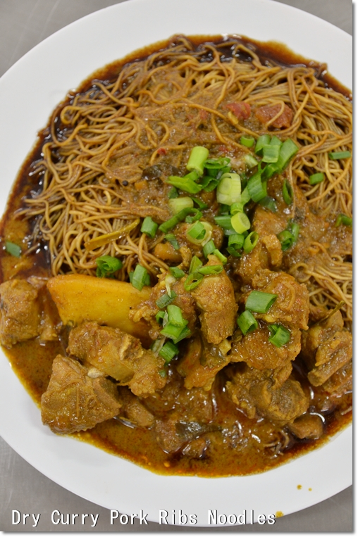 Dry Curry Pork Ribs Noodles