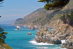North of McWay (Aequel) Tags: park blue sea cliff usa beach nature water waterfall nikon rocks wasserfall julia state bigsur falls highway1 burns montereycounty westcoast pfeiffer kalifornien californie pacificcoasthighway d300 mcway recreationarea