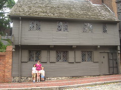 At Paul Revere's house (heidomerg) Tags: evan vacation boston james paulrevere 2011 reneka