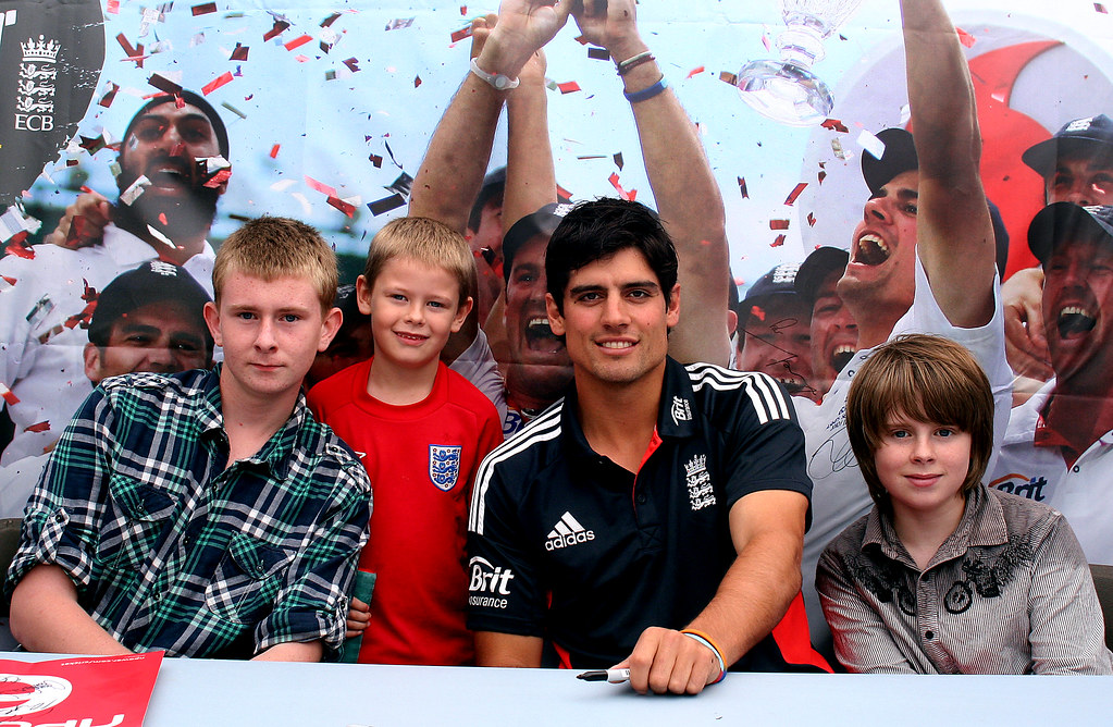 Alastair Cook With The Boys