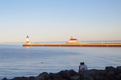 Lovely couple ... (bit_by_a_shutterbug) Tags: couple boardwalk duluth canalpark romanticcouple romanctic