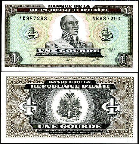 1 Gourde Haiti 1989, Pick 253