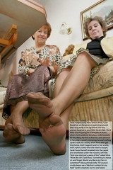 EvilWoman01 (gtsblade) Tags: feet socks foot sock squish crush giantess gts shrink shrunkenman