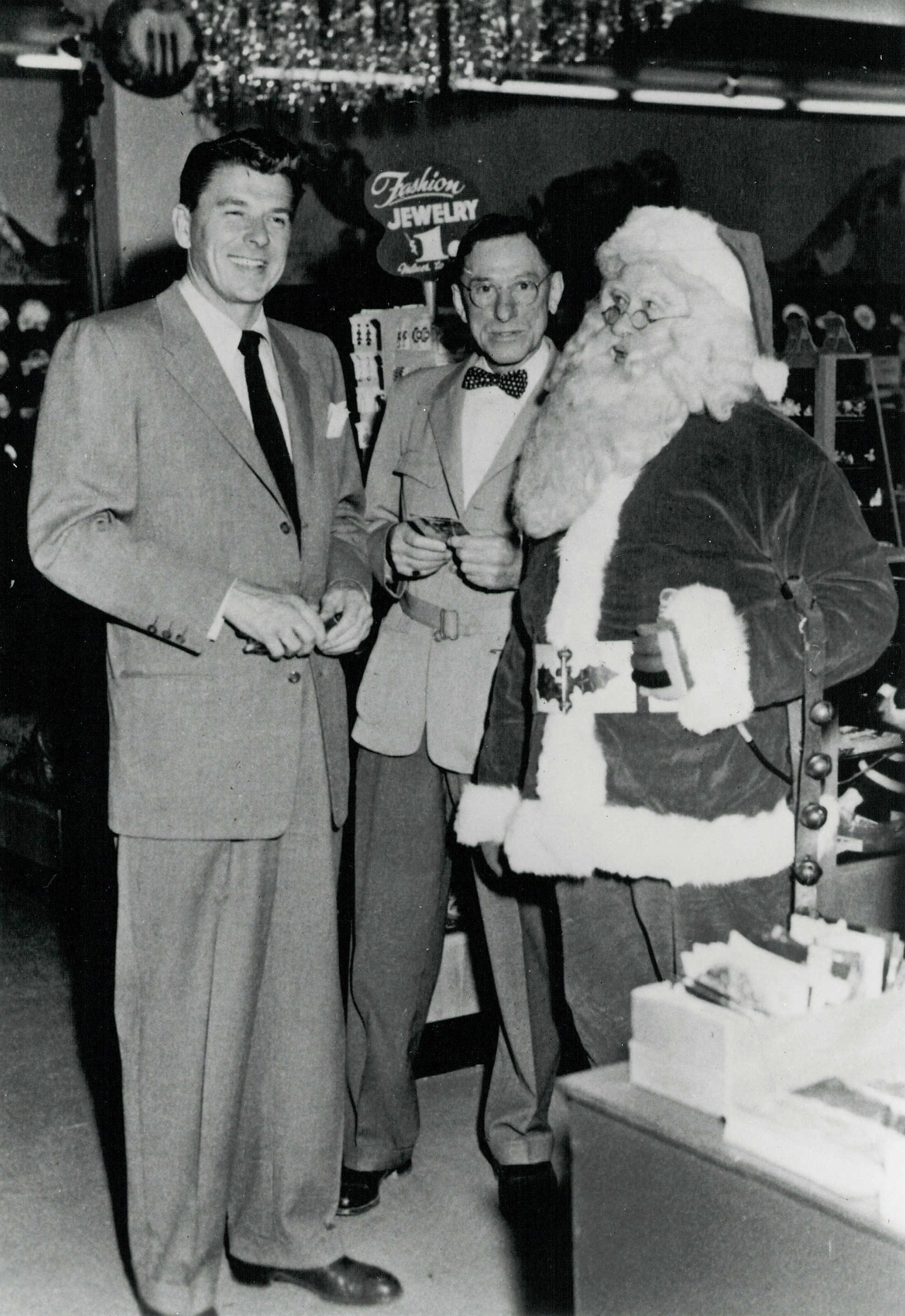 Ronald Reagan visited Santa Claus Land in 1955.