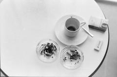 Caffeine and Nicotene (neelabh75) Tags: blackandwhite bw cup coffee 50mm nikon dubai blu cigarette empty radisson 400 pan asa ashtray 18 ilford matchbox f55 2109 21stfloor mathces businessbay neelabh neelabh75