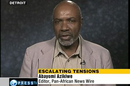 Abayomi Azikiwe, editor of the Pan-African News Wire, was interviewed on Press TV News Analysis program on the escalation of tensions between Israel, Gaza and Egypt. The program aired originally on August 19, 2011. by Pan-African News Wire File Photos