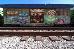 MERS  RYOE (TRUE 2 DEATH) Tags: railroad streetart art train graffiti graf trains railcar spraypaint boxcar railways railfan freight aub villains lords cbs freighttrain rollingstock mers lgf benching freighttraingraffiti ryoe