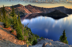 Looking In (markofphotography) Tags: blue trees cliff lake mountains water landscape island crater craterlake wizardisland craterlakenationalpark discoverypoint mtmazama subalpinefir markcullen markofphotography