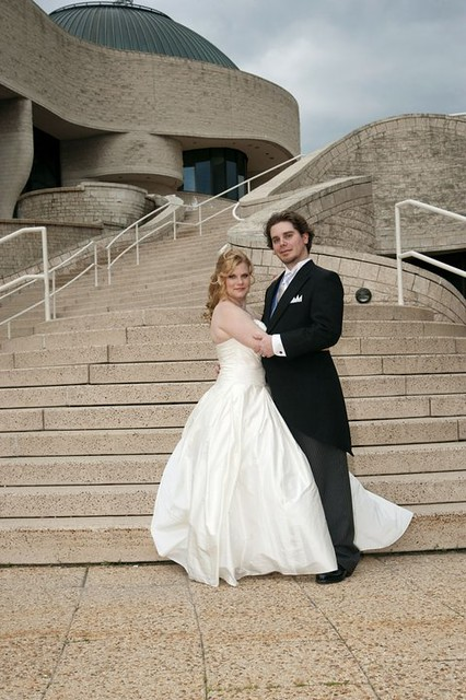 Lea-Ann Belter Allison, Museum of Civilization in Gatineau wedding, classic silk draped dupioni bridal ballgown, Kurt Heinecke photography, groom wearing a morning coat