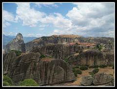 Meteora (realtravelinman) Tags: travel history nature outdoors europe cliffs greece monastery meteora pindusmountains granitecliffs