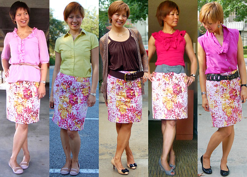 pink floral pencil skirt 01