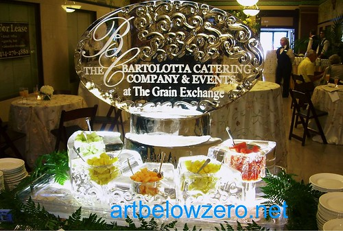 Bartolotta's Catering Fruit Display ice sculpture