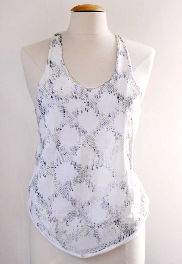 t-shirt DIY printed tank top with a stained sharpie