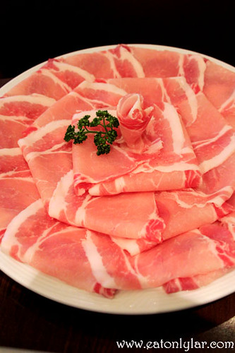 Thinly sliced pork, Sakura Japanese Restaurant