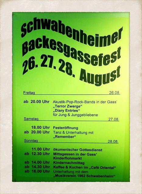 Schwabenheimer Backesgassefest 2011