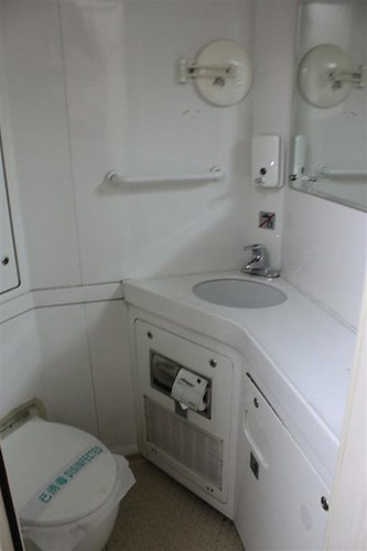 Private washroom in a room in a train, China