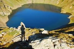 The Eye , Seven Rila Lakes , Bulgaria (.:: Maya ::.) Tags: blue shadow eye maya lakes bulgaria rila seven рила окото mayaeye mayakarkalicheva маякъркаличева wwwmayaeyecom