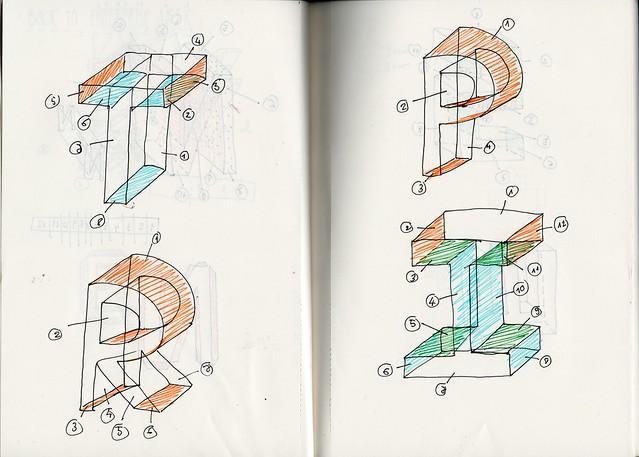 3d paper sketch