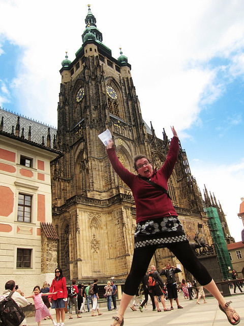 Jumping in Prague