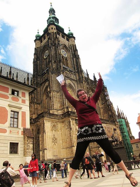 Jumping in Prague