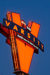 """V"" is for VARSITY! (EXPLORED) (StGrundy) Tags: city longexposure morning atlanta food usa sign skyline georgia dawn lights restaurant early lowlight nikon neon chili cityscape skyscrapers unitedstates south fastfood coke icon drivein hamburgers midtown explore southern varsity hotdogs cocacola bluehour georgiatech iconic onionrings greasy sweettea daybreak comfortfood thevarsity frostedorange northavenue fultoncounty whatllyahave explored d80 varsitysign worldslargestdriveinrestaurant stgrundy"