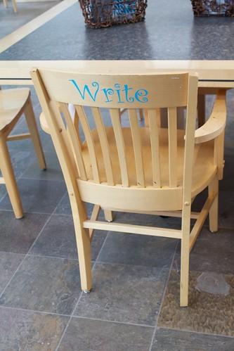 california words chair write