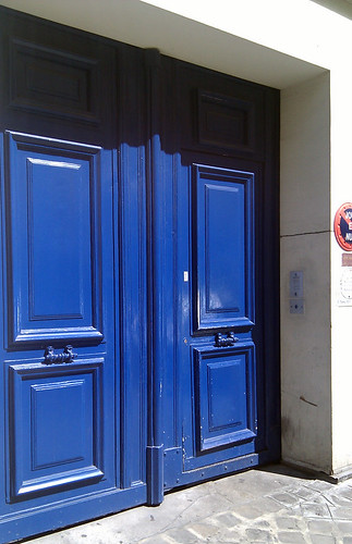Blue Door in Paris