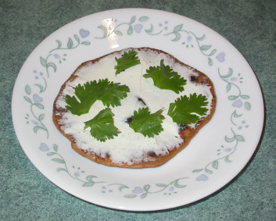 Cumin Rotis with Cream Cheese & Cilantro