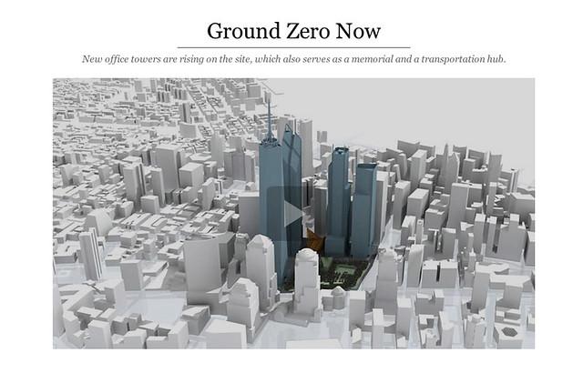 Videoinfografía del NYT sobre la nueva Zona Cero