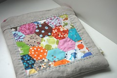 Hexagon Bag (Tiny House) Tags: etsy