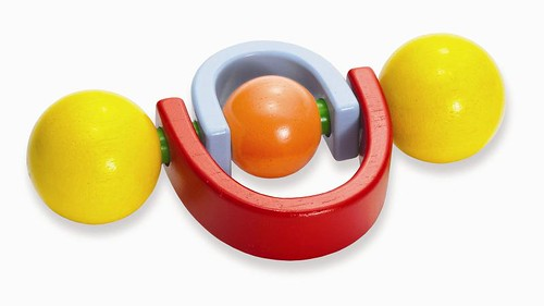 twirlla wooden rattle
