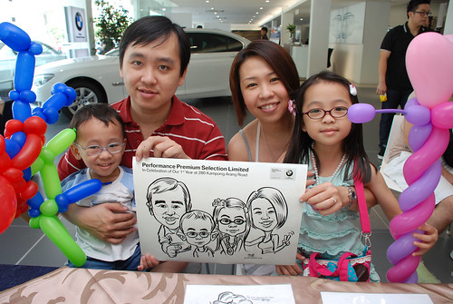 Caricature live sketching for Performance Premium Selection first year anniversary - day 2 - 8