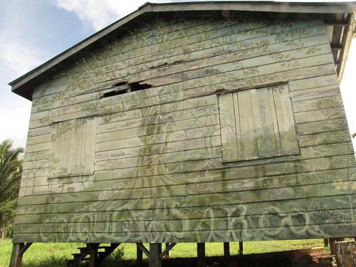 building in Crique Sarco, Belize