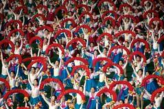 Arirang Mass Games - North Korea (Joseph A Ferris III) Tags: woman dress gymnast gymnastics northkorea pyongyang dprk arirang massgames