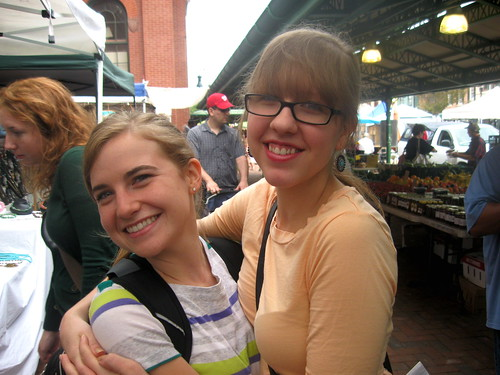 Sarah (and Mary) at the market